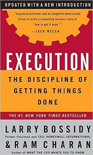'Execution' by Larry Bossidy and Ram Charan
